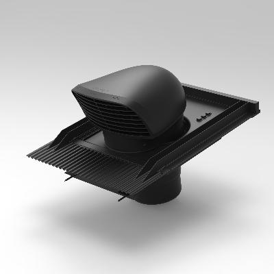 Dakdoorvoer - Ø150/160 - design - zwart - Yvick Ventilatie