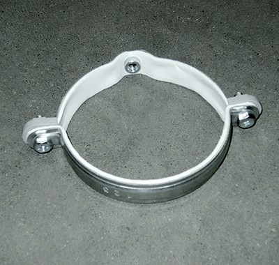 Ophangbeugel - diameter 125mm - met rubber